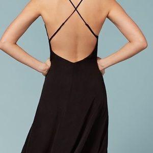 Reformation cross back midi wrap dress